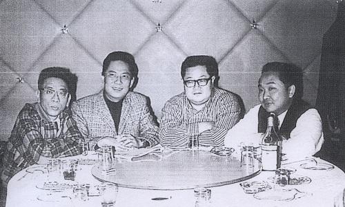 从左到右:高阳、李费蒙、诸葛青云、古龙